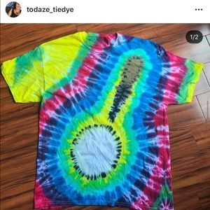 Handmade tie dyed Banjo shirt! Front and back